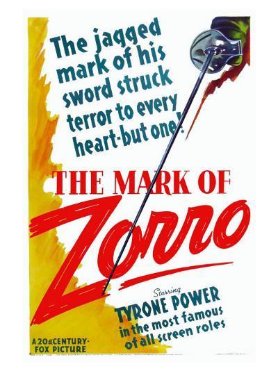The Mark of Zorro, 1940--Art Print
