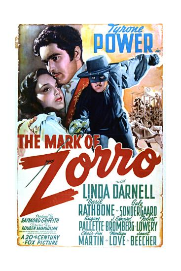 The Mark of Zorro - Movie Poster Reproduction--Art Print