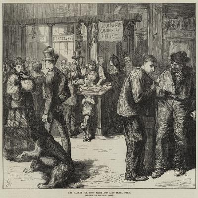 The Market for Dogs' Flesh and Cats' Flesh, Paris-Frederick Barnard-Giclee Print