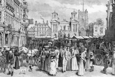 The Market Place, Kingston Upon Thames, Surrey, 1890--Giclee Print