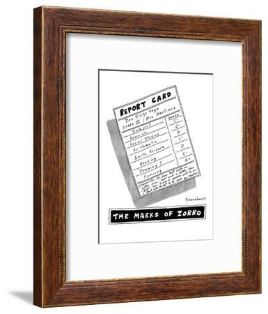 The Marks of Zorro - New Yorker Cartoon-Danny Shanahan-Framed Premium Giclee Print