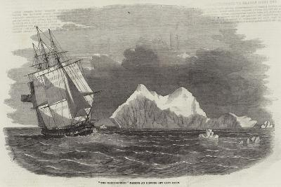 The Marlborough Passing an Iceberg Off Cape Horn--Giclee Print