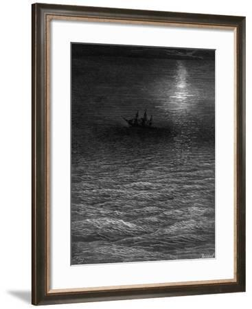 The Marooned Ship in a Moonlit Sea-Gustave Doré-Framed Giclee Print