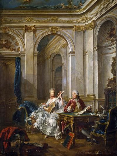 The Marquis and Marchioness of Faventines Creating Music-Jean-Baptiste Charpentier Le Vieux-Giclee Print