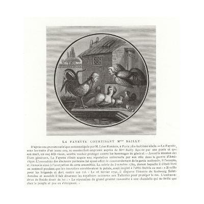 The Marquis De Lafayette Wooing Madame Bailly--Giclee Print