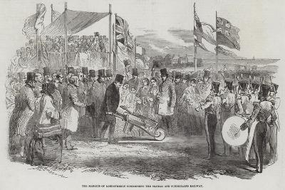 The Marquis of Londonderry Commencing the Seaham and Sunderland Railway--Giclee Print