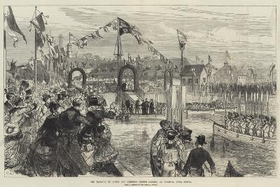 The Marquis of Lorne and Princess Louise Landing at Halifax, Nova Scotia-Charles Robinson-Giclee Print