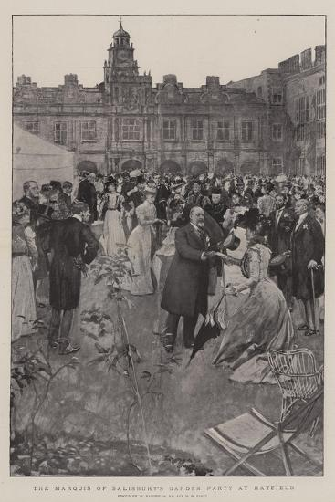 The Marquis of Salisbury's Garden Party at Hatfield-William Hatherell-Giclee Print