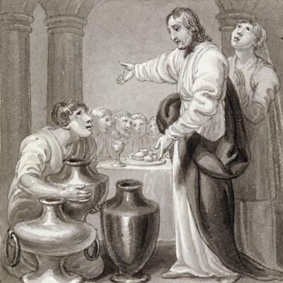 The Marriage at Cana, C1810-C1844-Henry Corbould-Giclee Print