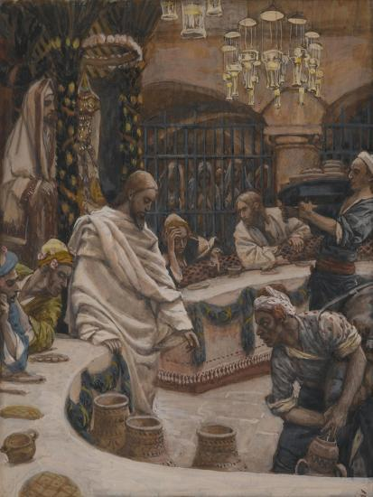 The Marriage at Cana from 'The Life of Our Lord Jesus Christ'-James Jacques Joseph Tissot-Giclee Print
