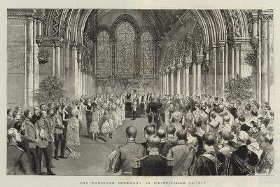 The Marriage Ceremony in Whippingham Church-Adrien Emmanuel Marie-Giclee Print