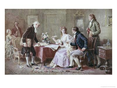 The Marriage Contract-Jean Leon Gerome Ferris-Giclee Print