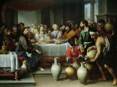 The Marriage Feast at Cana, C.1665-75-Bartolome Esteban Murillo-Giclee Print
