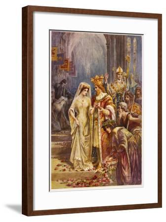 The Marriage of Arthur and Guinevere--Framed Giclee Print