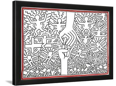 The Marriage of Heaven and Hell, 1984-Keith Haring-Framed Giclee Print