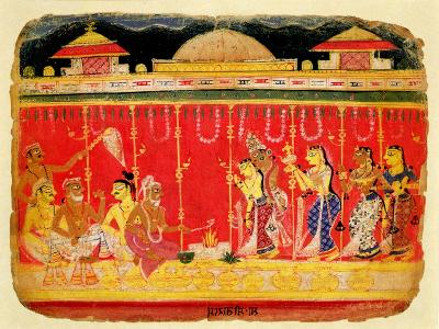 The Marriage of Krishna's Parents--Giclee Print