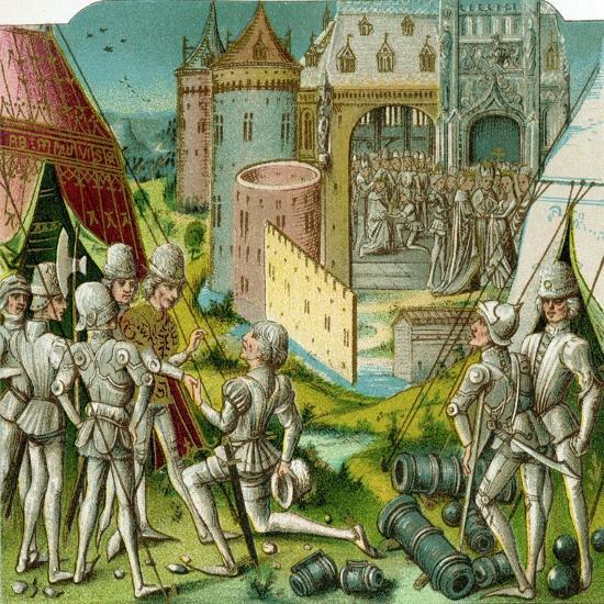 The Marriage of Margrave Sigismund of Brandenburg to Mary of Hungary, Late 15th Century-Loyset Li?det-Giclee Print