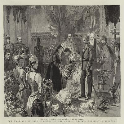 The Marriage of Miss Ponsonby at the Guards' Chapel, Wellington Barracks--Giclee Print
