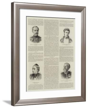 The Marriage of Miss Ponsonby--Framed Giclee Print
