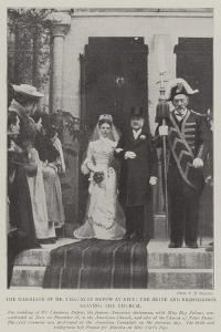 The Marriage of Mr Chauncey Depew at Nice, the Bride and Bridegroom Leaving the Church