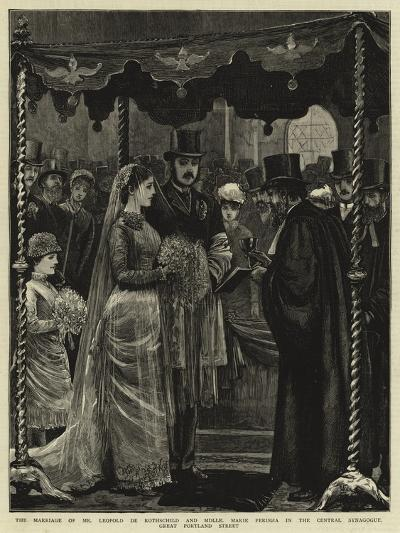 The Marriage of Mr Leopold De Rothschild and Mademoiselle Marie Perugia in the Central Synagogue--Giclee Print