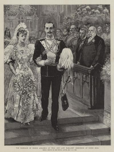 The Marriage of Prince Adolphus of Teck and Lady Margaret Grosvenor at Eaton Hall-Charles A. Cox-Giclee Print