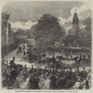 The Marriage of Princess Mary of Cambridge and Prince Teck, Arrival of the Queen at Kew