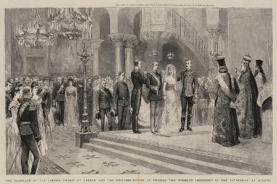 The Marriage of the Crown Prince of Greece and the Princess Sophie of Prussia--Giclee Print