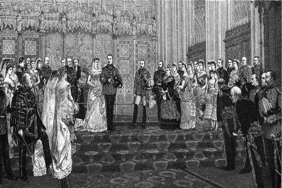 The Marriage of the Duke and Duchess of Albany, 27 April 1882-James Dromgole Linton-Giclee Print