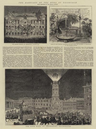 The Marriage of the Duke of Edinburgh--Giclee Print