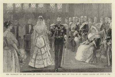 The Marriage of the Duke of York to Princess Victoria Mary of Teck in St James's Chapel on 6 July 1--Giclee Print