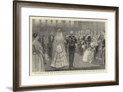 The Marriage of the Duke of York to Princess Victoria Mary of Teck in St James's Chapel on 6 July 1--Framed Giclee Print