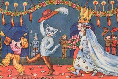 The Marriage of the Marquis of Carabas and the Princess, Illustration from 'Puss in Boots', C.1949--Giclee Print