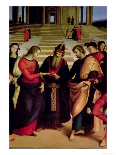 The Marriage of the Virgin, 1504-Raphael-Giclee Print