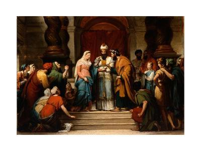 The Marriage of the Virgin, 1833-Jerome Martin Langlois-Giclee Print