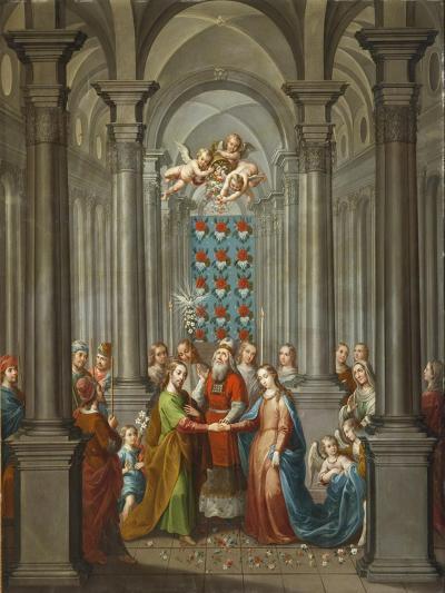 The Marriage of the Virgin (Desposorios de la Virgen), 1745-Nicolas Enriquez-Giclee Print