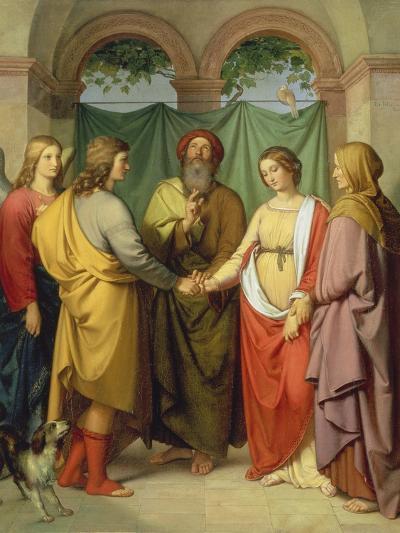 The Marriage of Tobias with Sarah, 1842-Eduard Ihl?e-Giclee Print