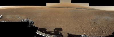 The Mars Rover, Curiosity, Inside Gale Crater Headed Toward Mount Sharp--Photographic Print