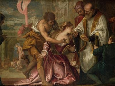 The Martyrdom and Last Communion of St. Lucy-Paolo Veronese-Giclee Print