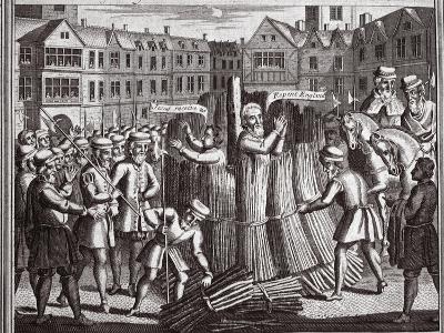 The Martyrdom of Mr John Bradford and John Leaf in Smithfield, Illustration from 'Foxes Martyrs'?--Giclee Print