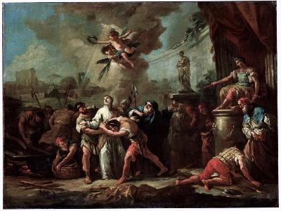 The Martyrdom of Saint Lawrence, 18th Century-Gaspare Diziani-Giclee Print