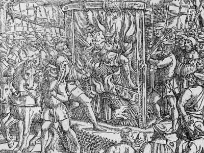 "The Martyrdom of Sir John Oldcastle, Lord Cobham from ""Acts and Monuments"" by John Foxe 1563--Giclee Print"