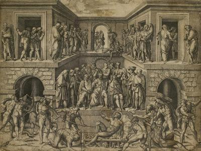 The Martyrdom of St Lawrence, C. 1525-Marcantonio Raimondi-Giclee Print