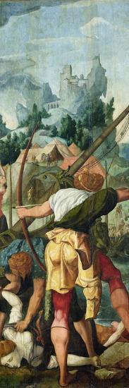 The Martyrdom of the Virgins, Right Panel from the Triptych of Saint Ursula and the Eleven…-Jan van Scorel-Giclee Print