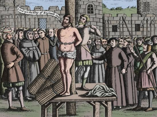 'The Martyrdome of Master William Tindall in Flanders by Vilvord Castle', 1563, (1947)-Unknown-Giclee Print