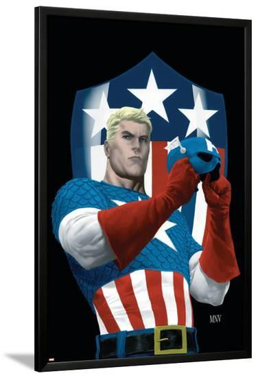 The Marvels Project No.5 Cover: Captain America-Steve MCNiven-Lamina Framed Poster
