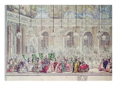 The Masked Ball at the Galerie Des Glaces on the Occasion of the Marriage of the Dauphin-Charles Nicolas II Cochin-Giclee Print