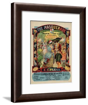 The Masquerade March Two Step, Sam DeVincent Collection, National Museum of American History--Framed Art Print