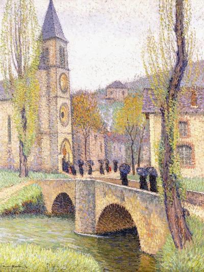 The Mass Hour at Bastide Du Vert, C.1920-Henri Martin-Giclee Print