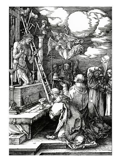 The Mass of St. Gregory, 1511 (Woodcut)-Albrecht D?rer-Giclee Print